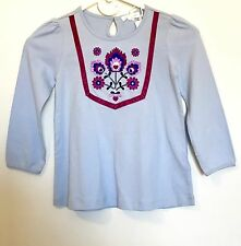 Pumpkin Patch Blue Embroidered Top. NWT Age 4 Price $12.50