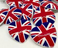 5 UNION JACK HEART 22mm SHANK BUTTONS PATRIOTIC ROYAL WEDDING SEWING CRAFT