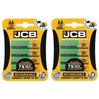 8 x JCB AA 2400mAh Rechargeable Ni-MH Batteries PreCharged MN1500 High Capacity