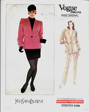 Vogue Jacket Skirt Pants Yves Saint Laurent Paris Sew Pattern 6-8-10 Uncut FF
