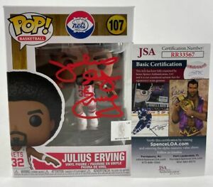 Julis Erving Doctor J Signed NBA Brooklyn Nets Funko POP Autographed JSA COA
