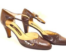 Vintage Euro Moda 1960's Pumps Shoes Leather Mary Jane Shoes - Size 36