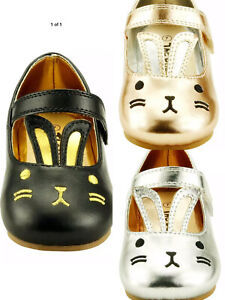 Baby Girl's Dress Shoes Mary Jane Easter Bunny Toddler size