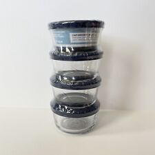 Anchor Hocking Four 1 Cup Glass Food Storage Containers
