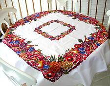 Factory Seconds Vintage Style Tablecloth - Fruit Cocktail Pattern - 100% cotton