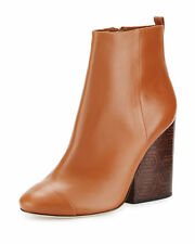New Tory Burch Grove 100mm Royal Tan Leather Ankle Boot Bootie Size 8