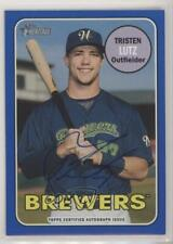 2018 Topps Heritage Minor League Edition Real One Blue /99 Tristen Lutz Auto