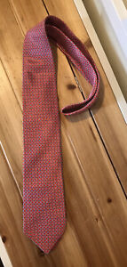 Stefano Ricci Hand Printed Silk Tie Made In Italy Pre-Owned