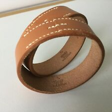 Hermès lederen leather bracelet armband Armreif  NEVER WORN