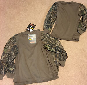 BOYS Chocolate L/S Tee w/True Timber Conceal Green Trim Infant 6-12M & Boys 6-7