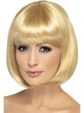 "Dark Blonde Bobbed Wig 12"" Partyrama Celebrity Fancy Dress Accessory"