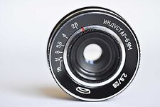 VERY RARE mount M 42 on Lens INDUSTAR-69M 2,8/28mm MACRO  Without distance scale
