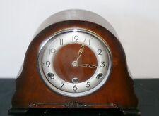Antique British Bentima Perivale Mantel Shelf Clock Westminster Chimes England