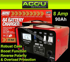 Maypole MP713 12v 8Amp 20Ah to 90Ah Metal Case Car Van Lead Acid Battery Charger