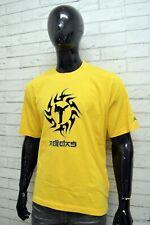 Maglia ADIDAS Uomo Taglia Size XL Maglietta Shirt Man Cotone Manica Corta Giallo