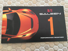SALEEN 1 SPORTS CAR SALES BROCHURE  LOS ANGELES AUTOSHOW 2017-2018