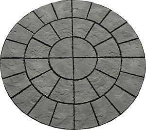 1800mm Rotunda concrete Patio Slate Grey Incl del (exceptions see description ).