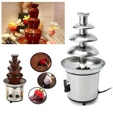 Chocolate Fondue Fountain Waterfall Melting Machine 4 Tiers Stainless Steel AU