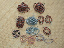 NEW 65 Pieces BOHO CLAY BEADED BRACELETS (Cut them apart...Great for Beading)