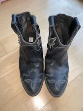 7da001e347bf2 Black GOLDEN GOOSE Western Cowgirl Cowboy Distressed Ankle Boot 36 Italy  Marant