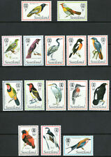 More details for swaziland 1976 qeii birds complete set of mint stamps to e2  lightly hinged