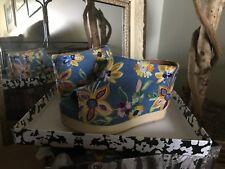 Jeffrey Campbell Womens Embroidered Denim Platform Mule 9M Msrp $190