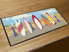 Martin Wiscombe Beach five Surf boards bar runner home bar counter mat