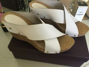 CARVELA Comfort white sandals leather size 8 NEW RRP£79