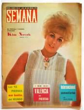 Revista Semana Nº 1308. 16-03-1965. Kim Novak. Publicidad a color de Moto Vespa