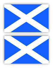 SelfAdh.SCOTTISH FLAG  stickers/decals (SET OF 2) WAT/PROOF.Racecar/Mini/Boats