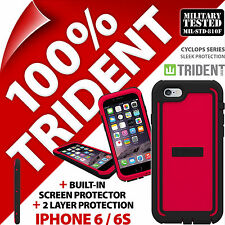New Trident Cyclops Red Protective Case Rugged Armour for Apple iPhone 6 / 6S