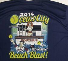 Hooters Mens 3 XL Shirt Ocean City Beach Blast Summer 2014 polyester RARE