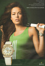 Advertising advertising 2009 rolex watch oyster perpetual date just ana ivanovic