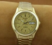 VINTAGE SEIKO 5 GOLDEN 7S26A MENS AUTOMATIC JAPAN WORKING WRIST WATCH ..