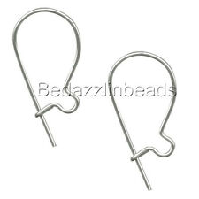 20 Dark Silver 304 Stainless Surgical Steel 14mm Curved Kidney Earring Findings