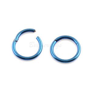 14G 16G 18G Steel Hinged Septum Clicker Segment Ear Cartilage Nose Ring Daith