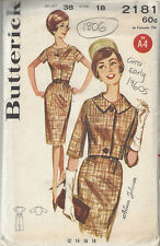 1960s Vintage Sewing Pattern B38 JACKET & DRESS (1806R) As seen on TV SEWING BEE
