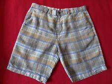 Tommy Bahama Men's Plaid Dei Marmi Linen Shorts - 34