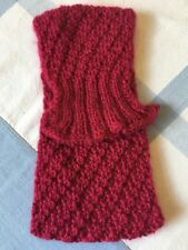 Stirnband Handgestrickt Handarbeit Winter Mütze Ohrwärmer Meerjungfrau Pink
