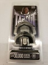 Tapout Mouthguard Tap Out Mouth Guard Grey & Black Youth Kid Hockey Football MMA