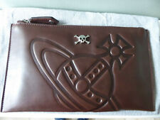 Brand New Vivienne Westwood Embossed Orb Skull Leather Clutch / Pouch