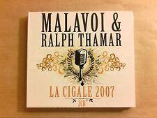 COFFRET 2 CD / MALAVOI & RALPH TAMAR / LA CIGALE 2007 / NEUF SOUS CELLO