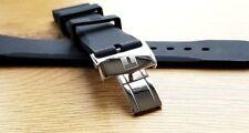 Nuevo 20 mm Negro Reloj Correa de implementación de goma de silicona/Banda Para Relojes Tissot