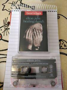 Elton John audio cassette single Healing Hands