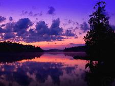 PHOTO LANDSCAPE SUNSET DUSK PURPLE WALL ART PRINT PICTURE POSTER HP2728
