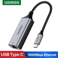 Ugreen USB C Ethernet Adapter Type C RJ45 Lan Network Card Fr Nintendo Switch