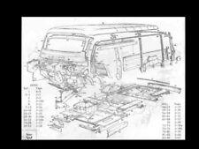 BEDFORD CA CAL CA4 WORKSHOP and PARTS MANUALs 725pg for Vans Dormobile RV Camper