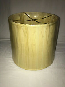 NEW VINTAGE TABLE TOP LAMP SHADE SEALED WITH PLASTIC 15.5 X 15 INCHES CREAM/TAN