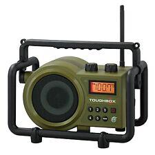 Sangean TB-100 Toughbox AM/FM/AUX-In Ultra Rugged Digital Tuning Radio Green New
