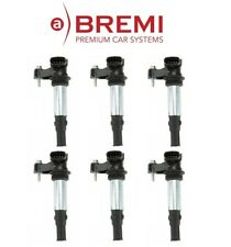 Saab Cadillac Buick Set of 6 BREMI Ignition Coil - With Spark Plug Connector